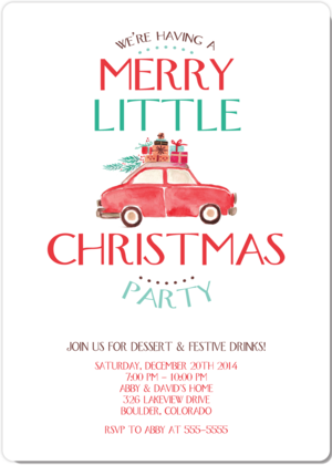 merry little christmas christmas party invitation