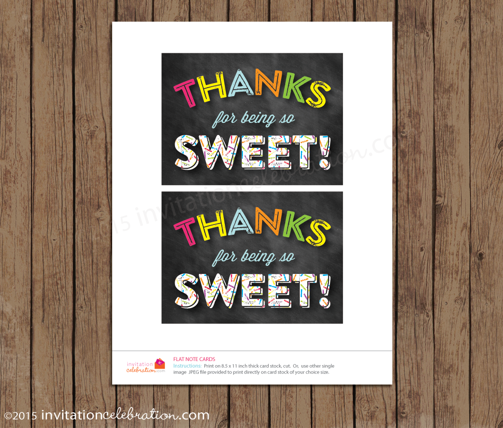 sprinkle thank you card