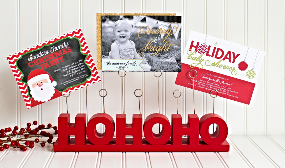 Christmas Holiday Cards Invitations