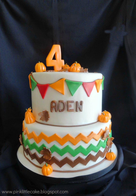 pumpkin birthday cake boy