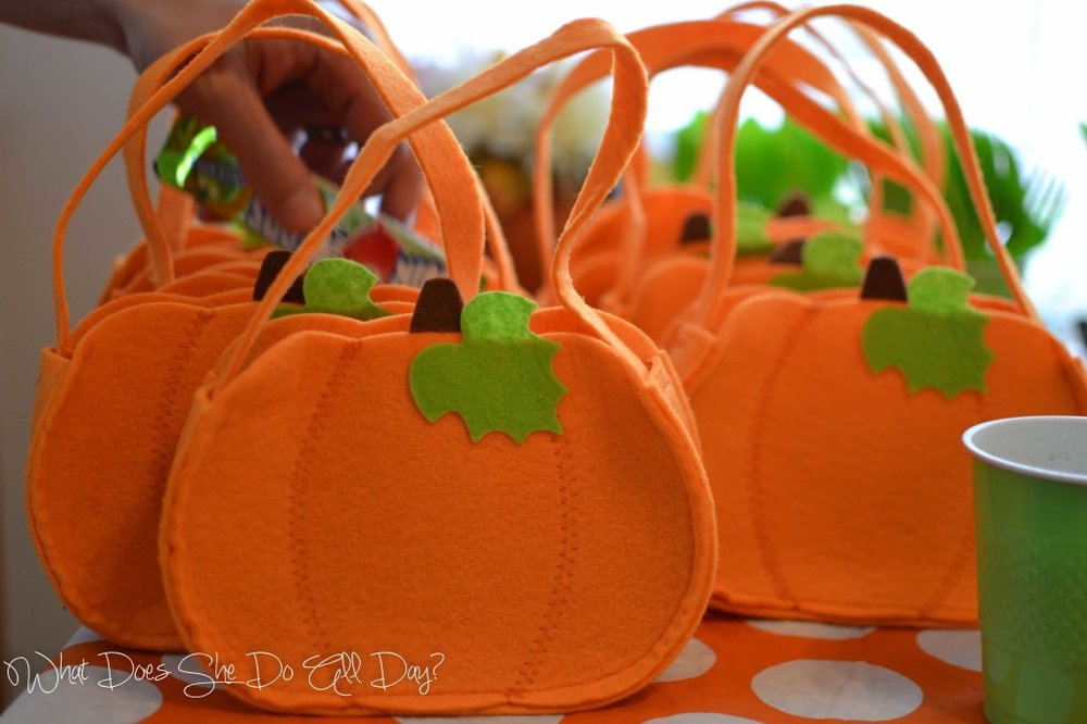 pumpkin bag favor