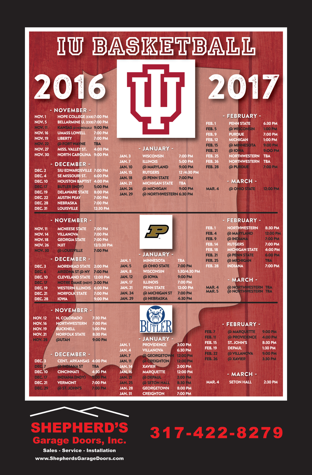 iu basketball schedule