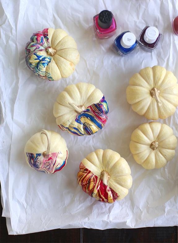 marbelized pumpkins