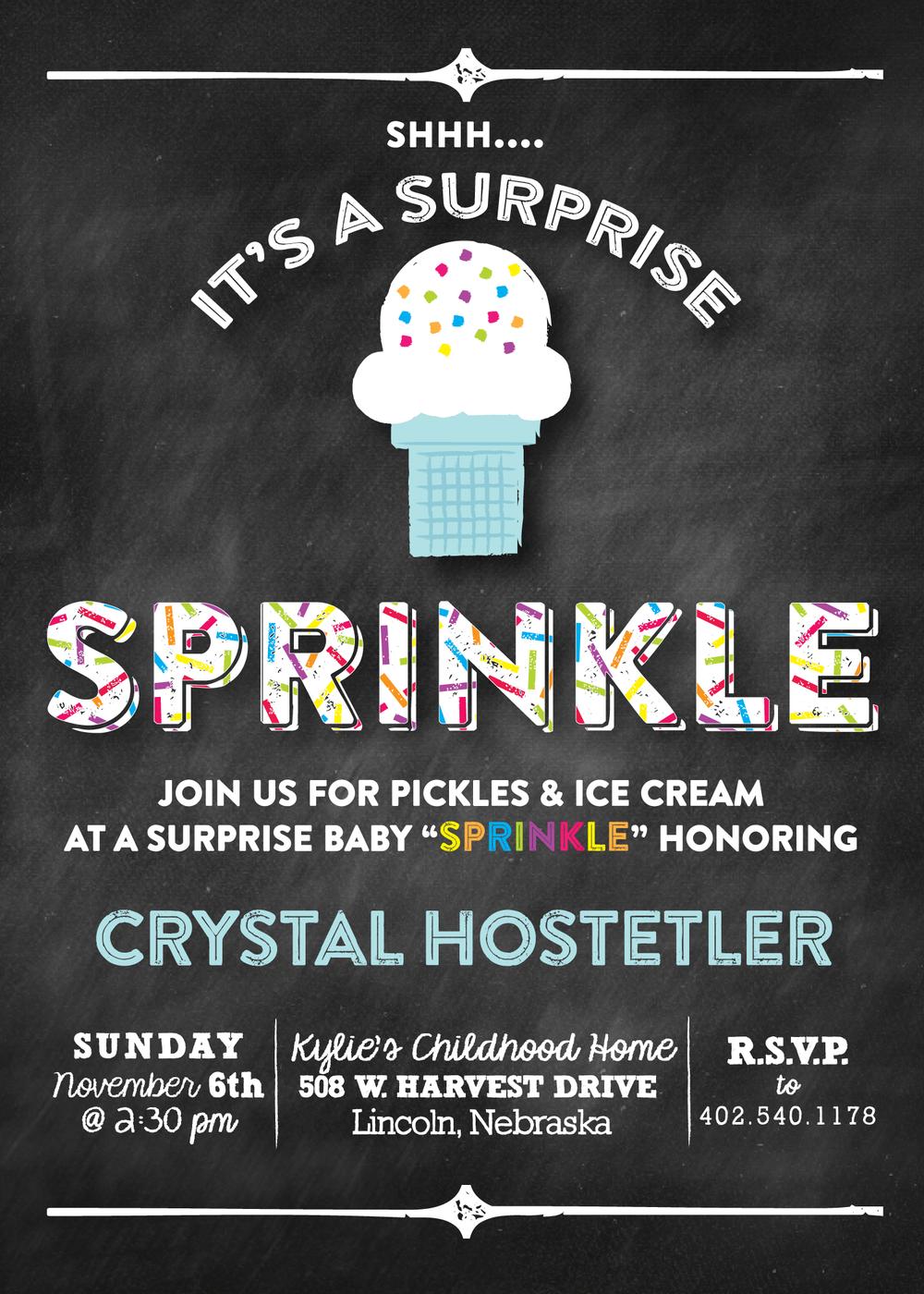ice cream baby sprinkle
