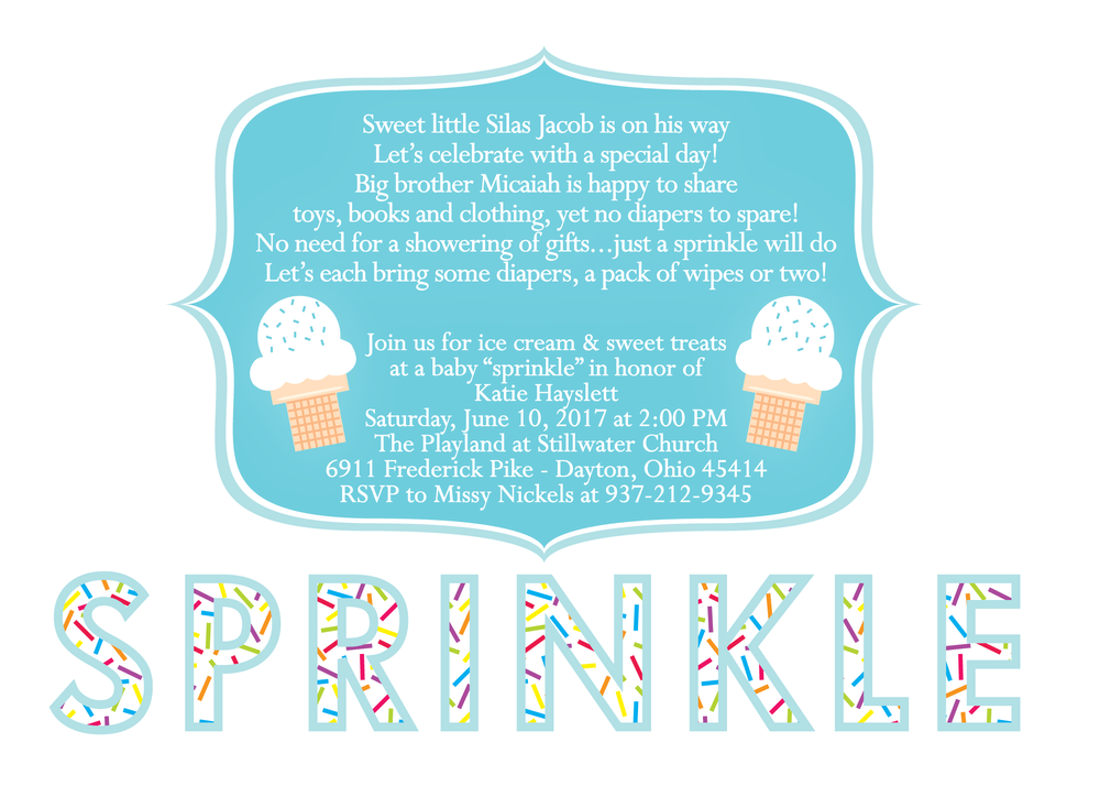 ice cream baby sprinkle invitation