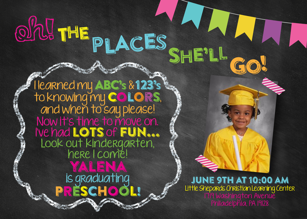 preschool graduation invitation
