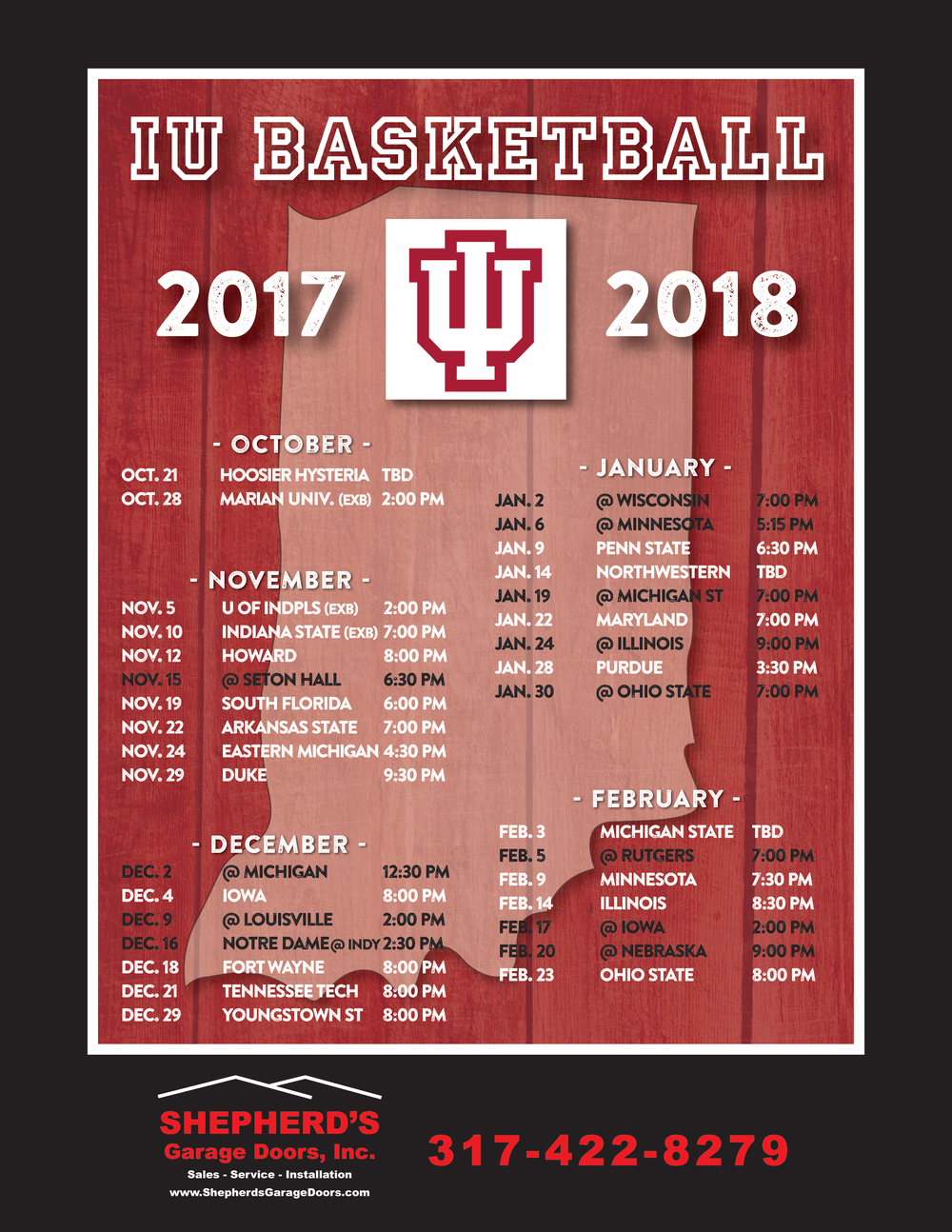 iu basketball calendar
