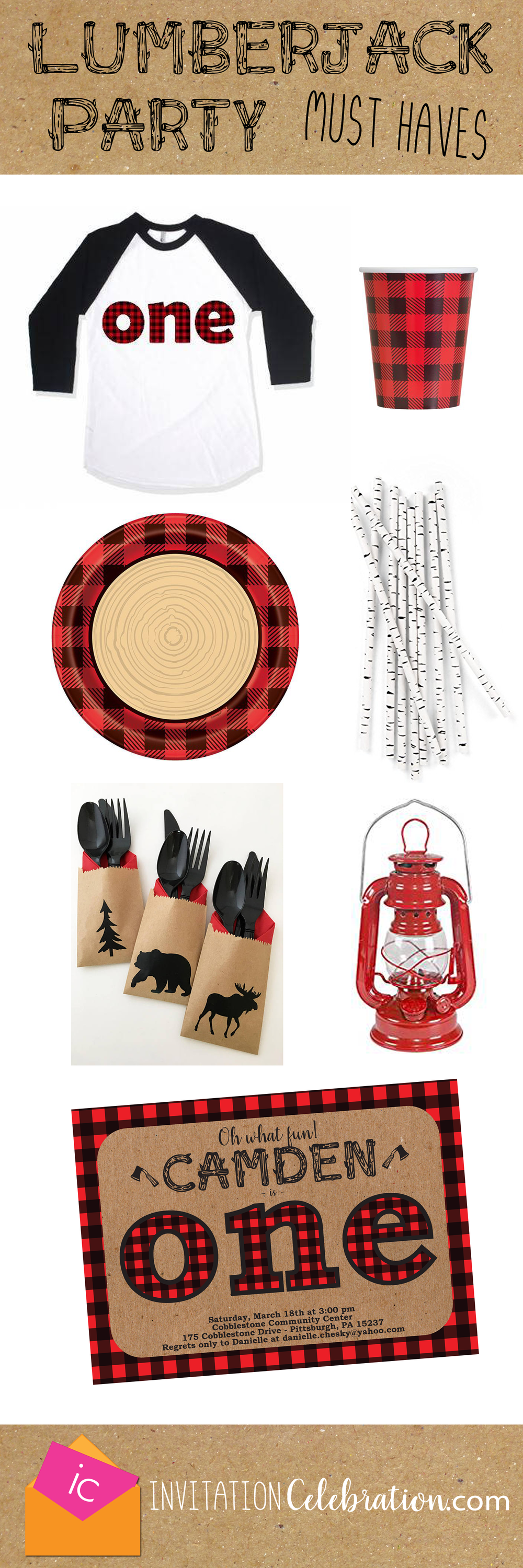lumberjack first birthday ideas