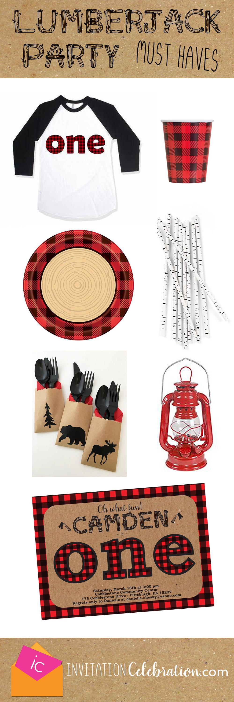 lumberjack first birthday ideas
