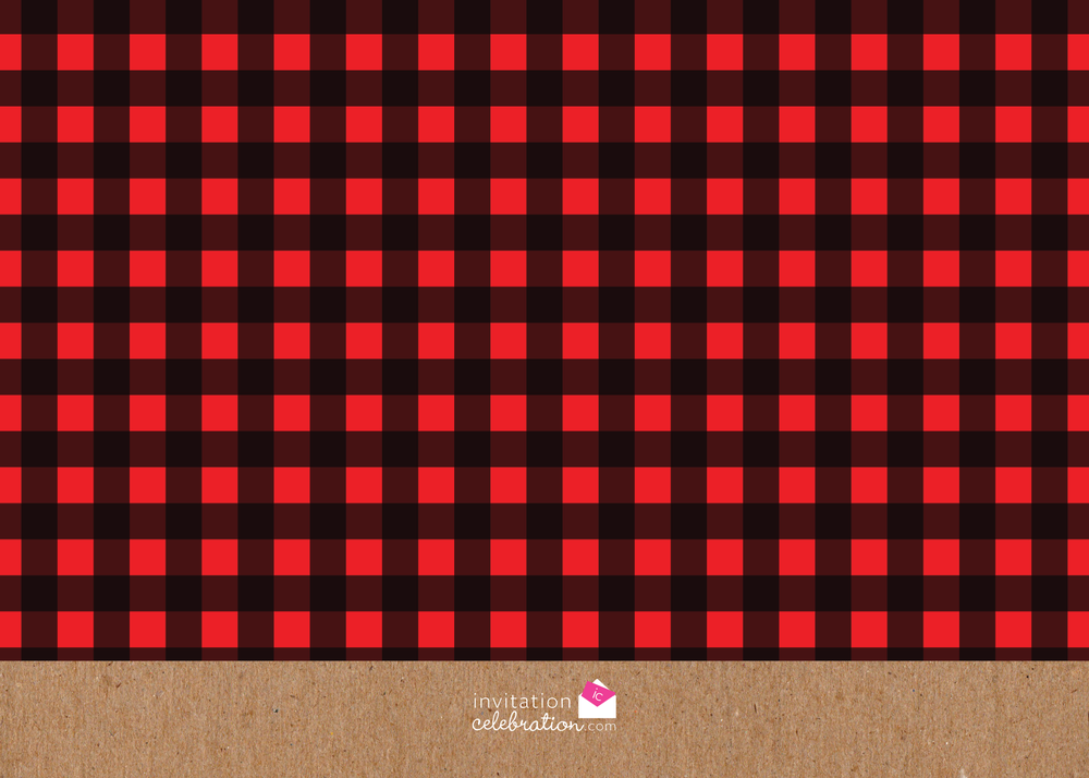 plaid boy birthday invitation
