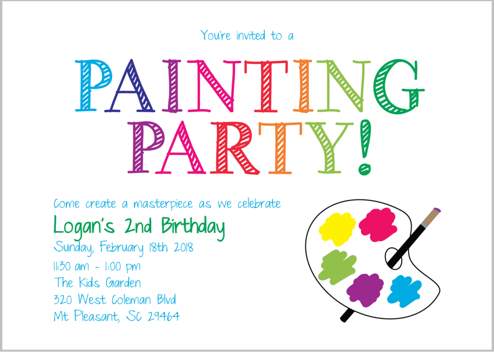 painting party birthday
