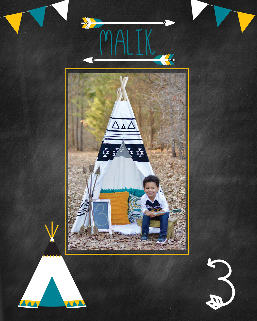 tribal teepee birthday