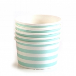 Heavy duty paper ice cream cups from  Modern Lola Party Supplies