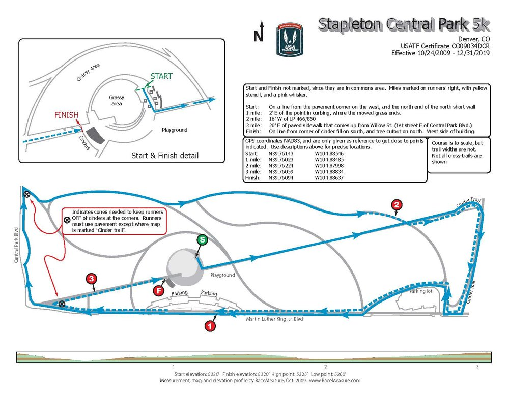 Above is the course map for the bRUNch Run. Note, the 10k route is the 5k route twice.