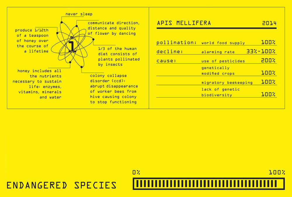 Bee label detail