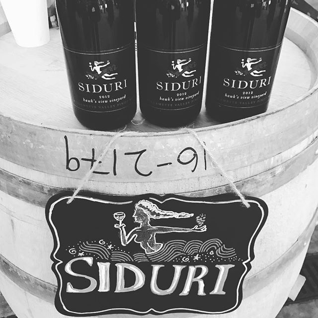 Back in Oregon for the Willamette Valley Barrel Auction. Pouring @siduriwines 2012 Hawk's View Pinot Noir from the library.