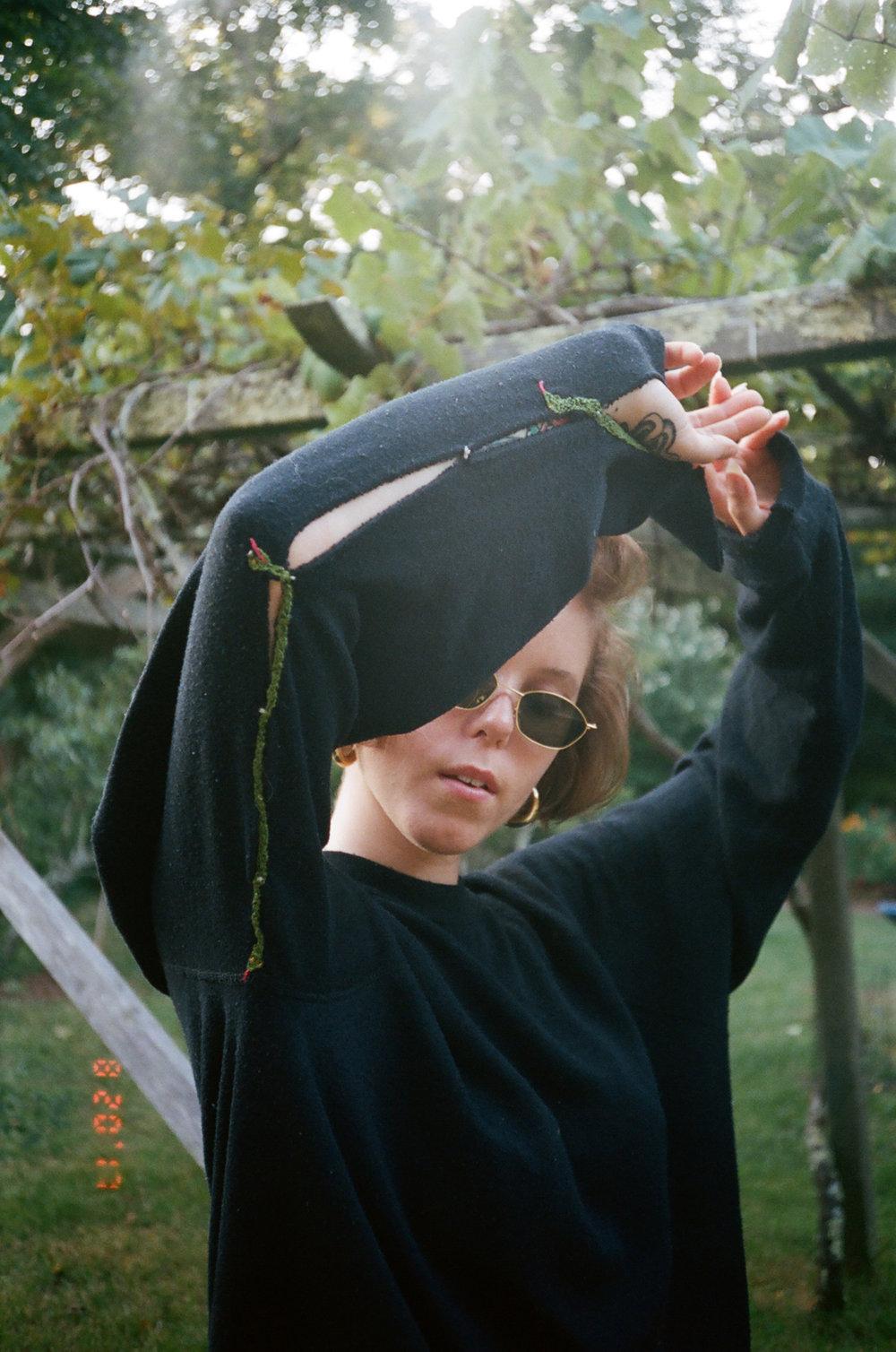 Liz McCormick in her Twin Snake sweatshirt.