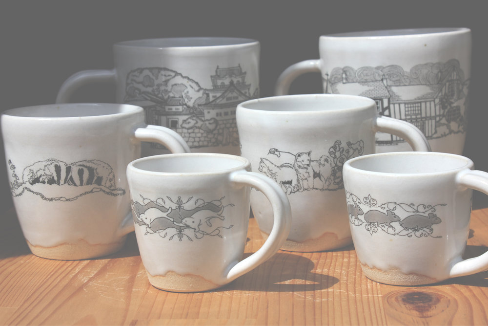 Cup Collection - Exclusive designs by Jack Brutus Penny & Miho HanyuEmail Miho Hanyu at susieisus@gmail.com