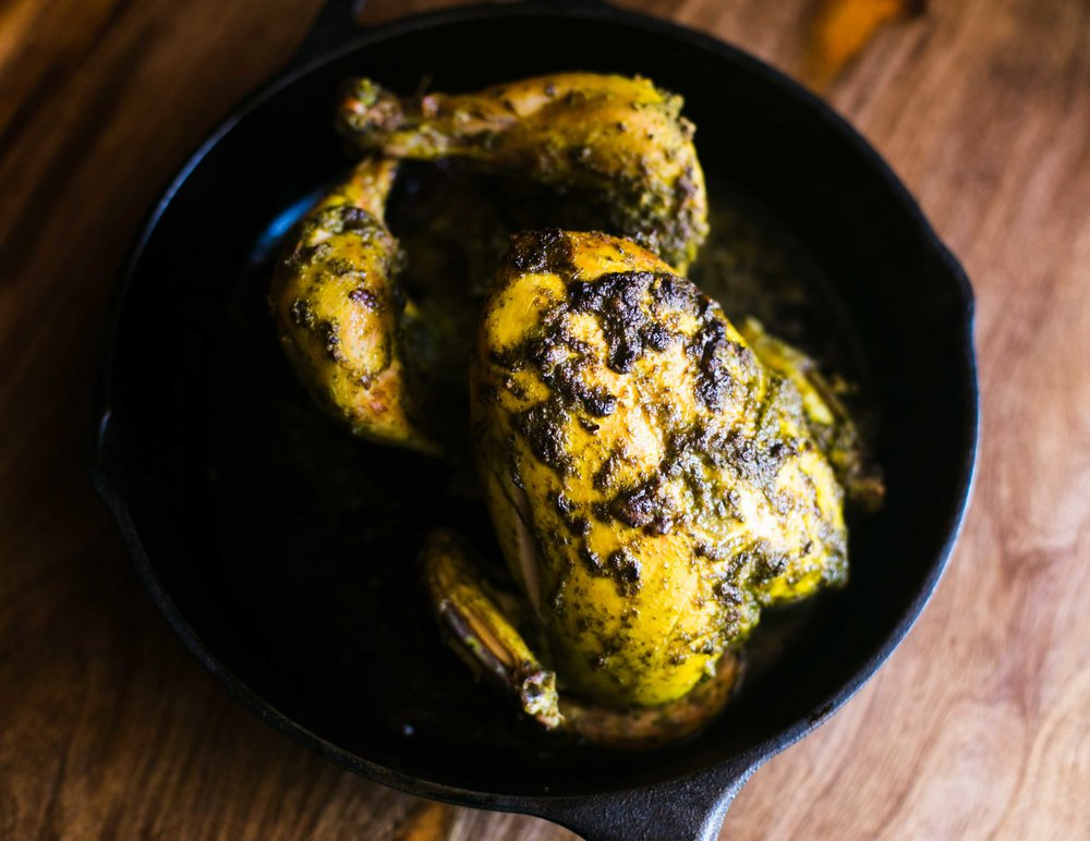Easiest Green Harissa Roast Chicken recipe