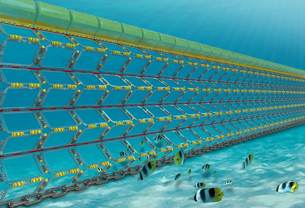 The Bionic Barrier - eco friendly shark barrier technology from Global Marine Enclosures