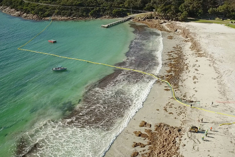 Successful installation of the Aquarius Barrier at Ellen Cove, Albany WA