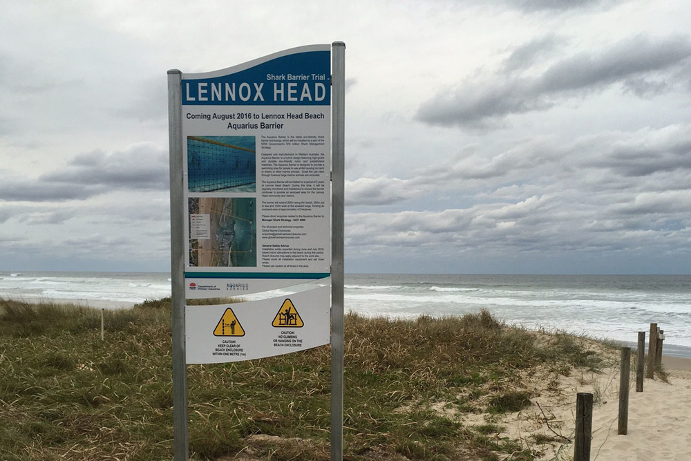 Lennox Head Shark Barrier - The Aquarius Barrier