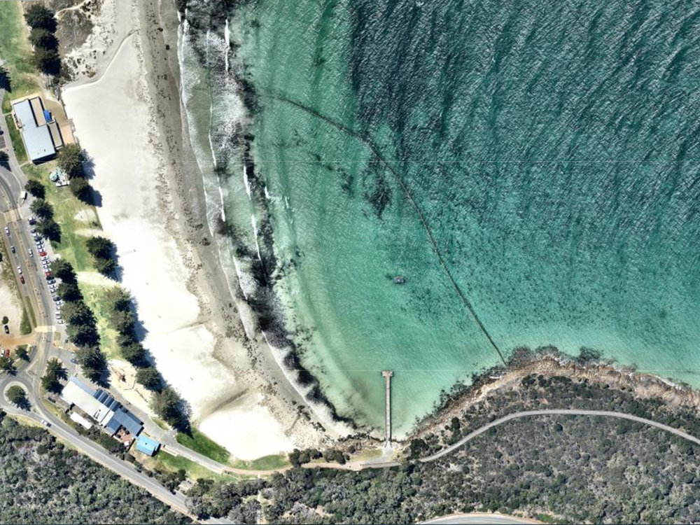Middleton Beach Shark Barrier Aerial View