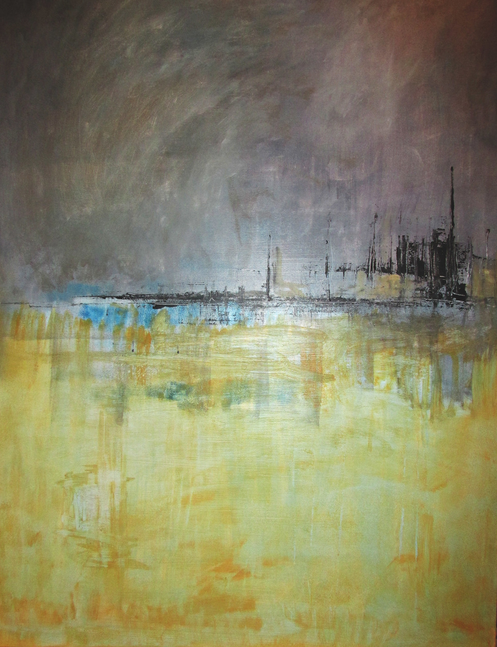 Night port  .70x100cm.Acrylic on Canvas. 2014