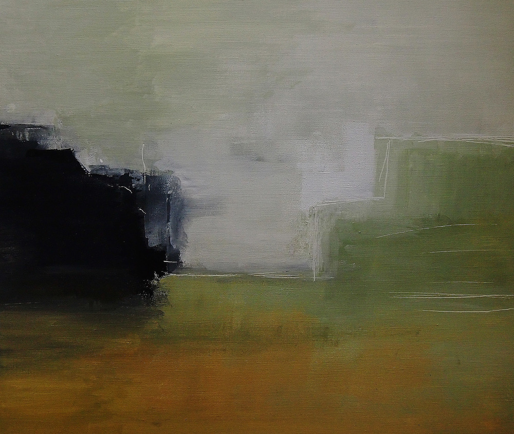 Black Rock . 60x55cm.  Acrylic On Canvas. 2012