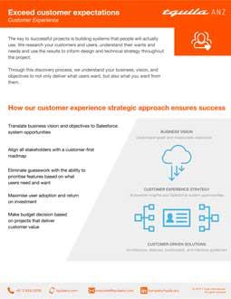 Customer Experience Datasheet