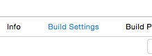 "3) select ""Build Settings"""