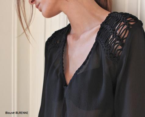 Блузка Burenne с ручным плетением.  Состав: 100% шелк  Цена: 24000 руб.