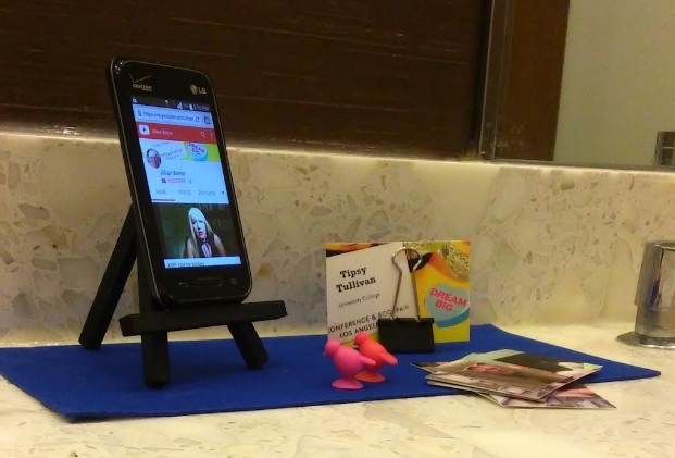 The 2016 AWP Conference rejected all panels on disability, so I staged pop-up panels on burner phones.