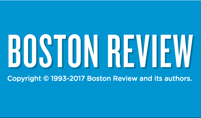 Two poems  in  Boston Review.