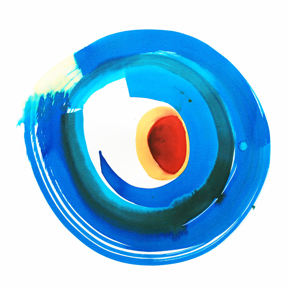 Electric Blue Circle Of Love