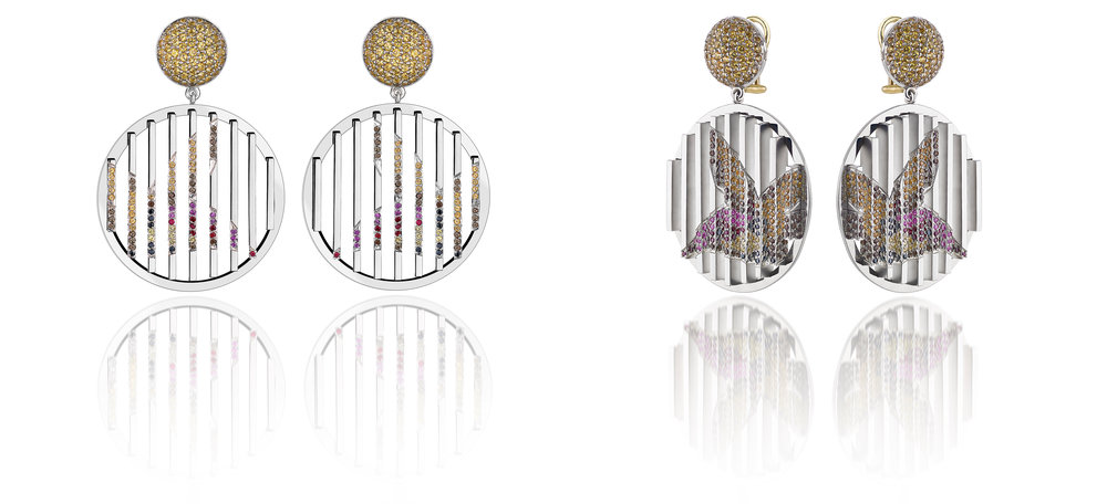 Vicky Lew London - Chrysolampis Mosquitus Earrings