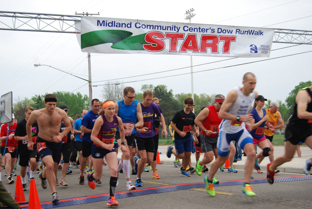 2016 Dow RunWalk   NEW THIS YEAR: HALF-MARATHON COURSE!   Greater Midland Races