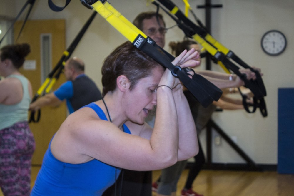 Tara now teaches TRX at the Community Center twice a week.