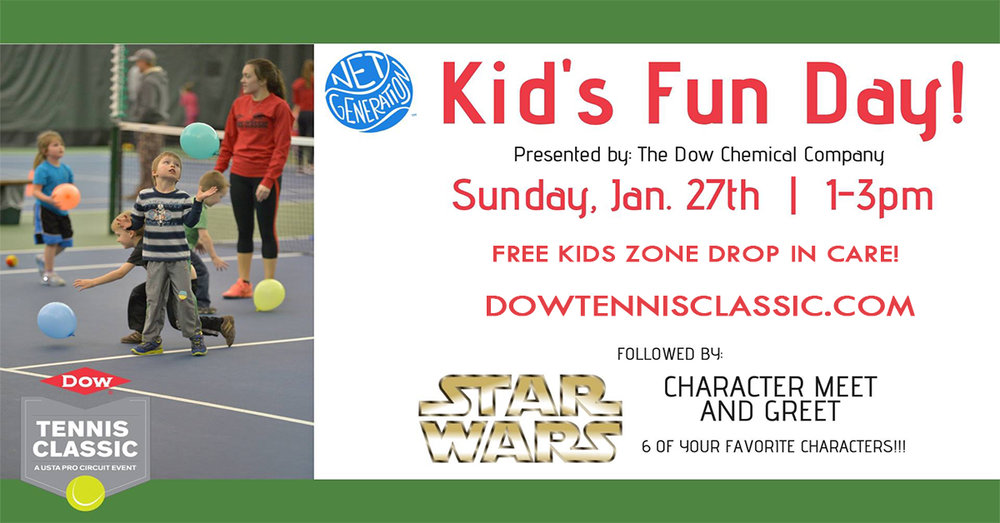 Dow Tennis Classic - Net Generation Kid's Fun Day