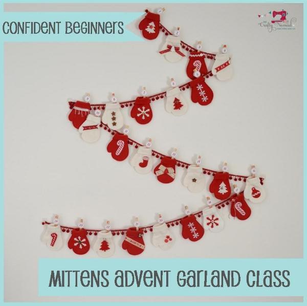 Mittens Advent Calendar Garland