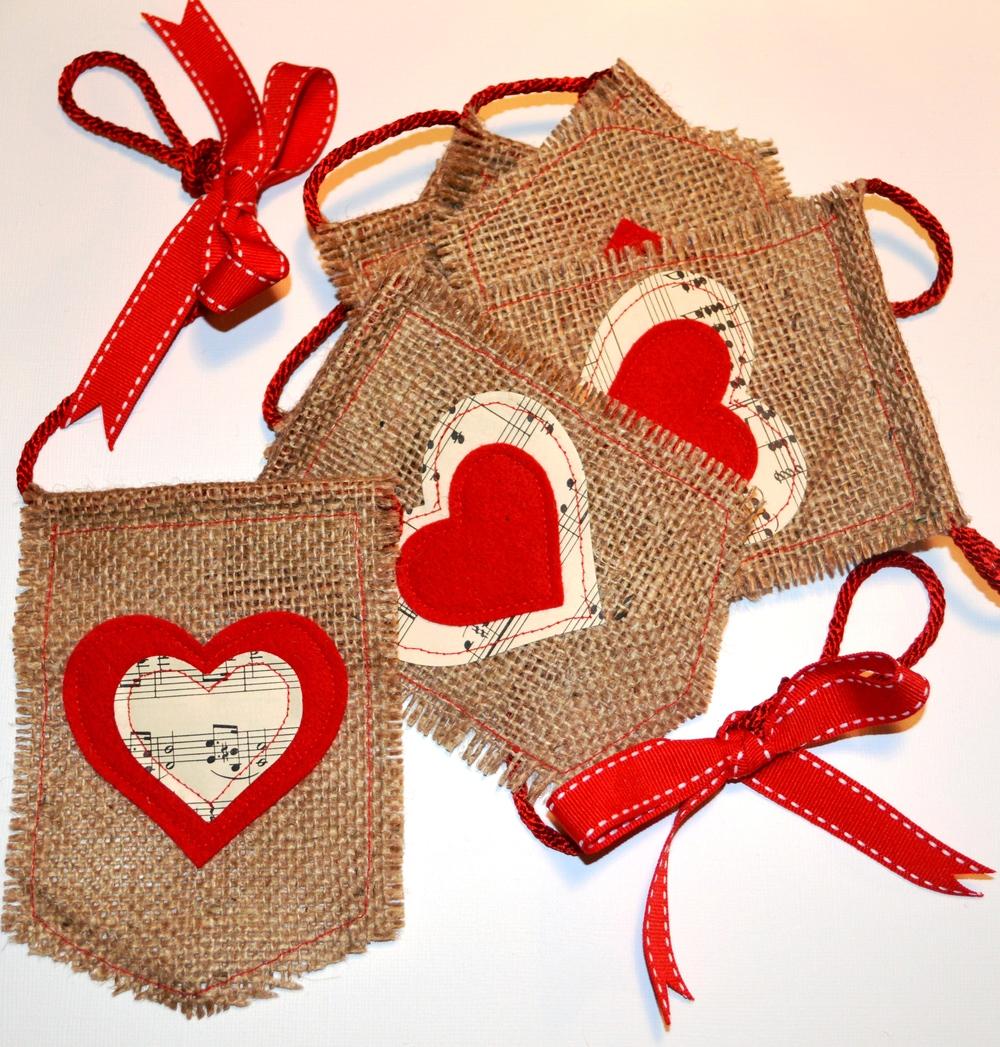 Valentine Burlap Bunting