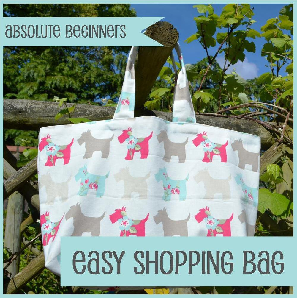 The Crafty Nomad Sewing Class Easy Shopping Bag