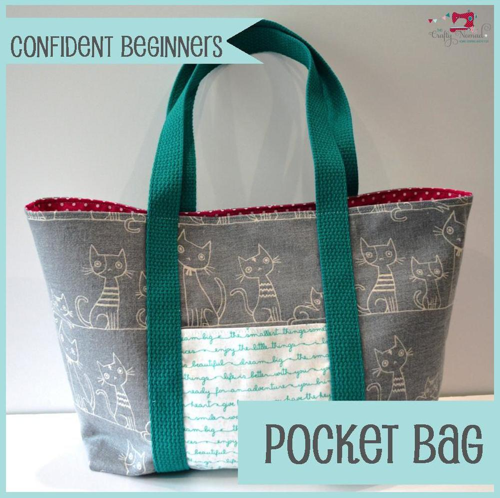 The Crafty Nomad Sewing Class Pocket Bag