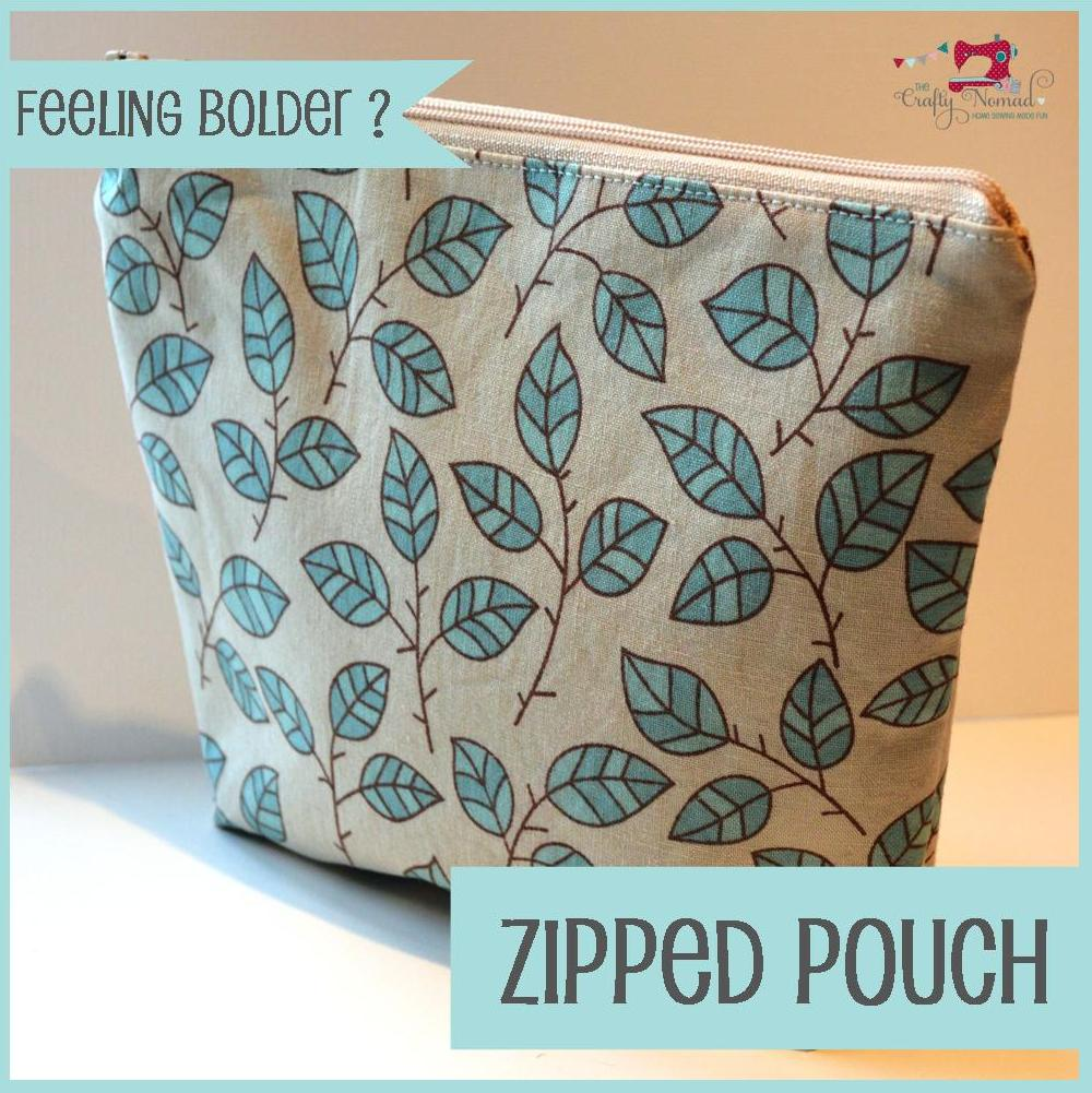 The Crafty Nomad Sewing Class Zip pouch