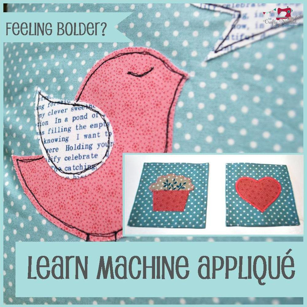 The Crafty Nomad Sewing Class Skills How to Applique