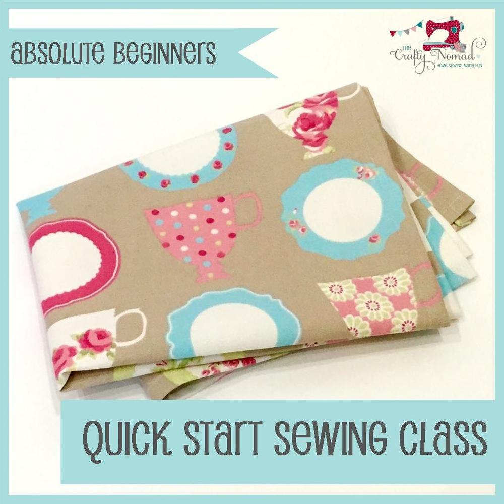 The Crafty Nomad Sewing Class Quick Start Sewing Taster session
