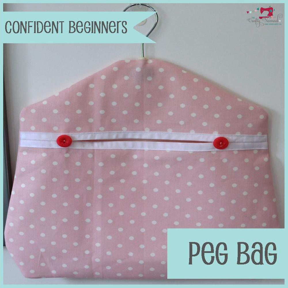 The Crafty Nomad Sewing Class Peg bag