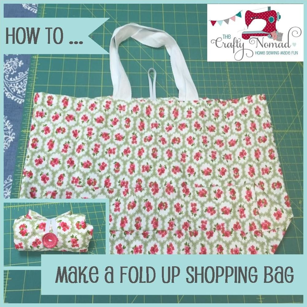 Fold Up Shopping Bag Tutorial