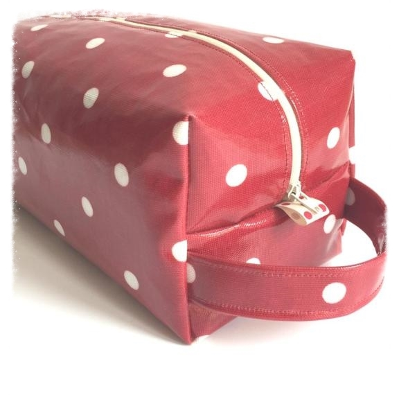 Red Oilcloth Wash Bag The Crafty Nomad.jpg