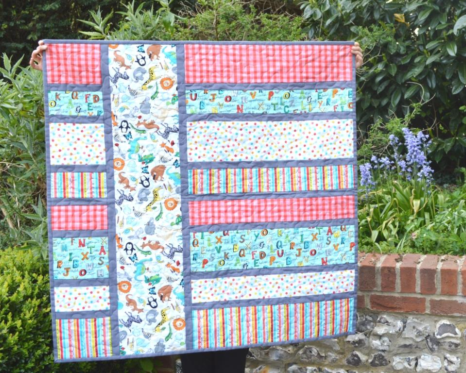 The Crafty Nomad Baby Blocks Quilt